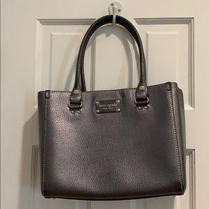 Kate spade gray metallic purse